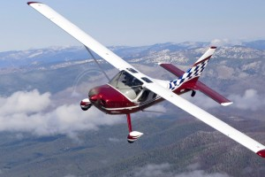 Alan Negrin Flying N2CQ Over Seven Devils Hills, Idaho - Photo Courtesy of Chris Rose