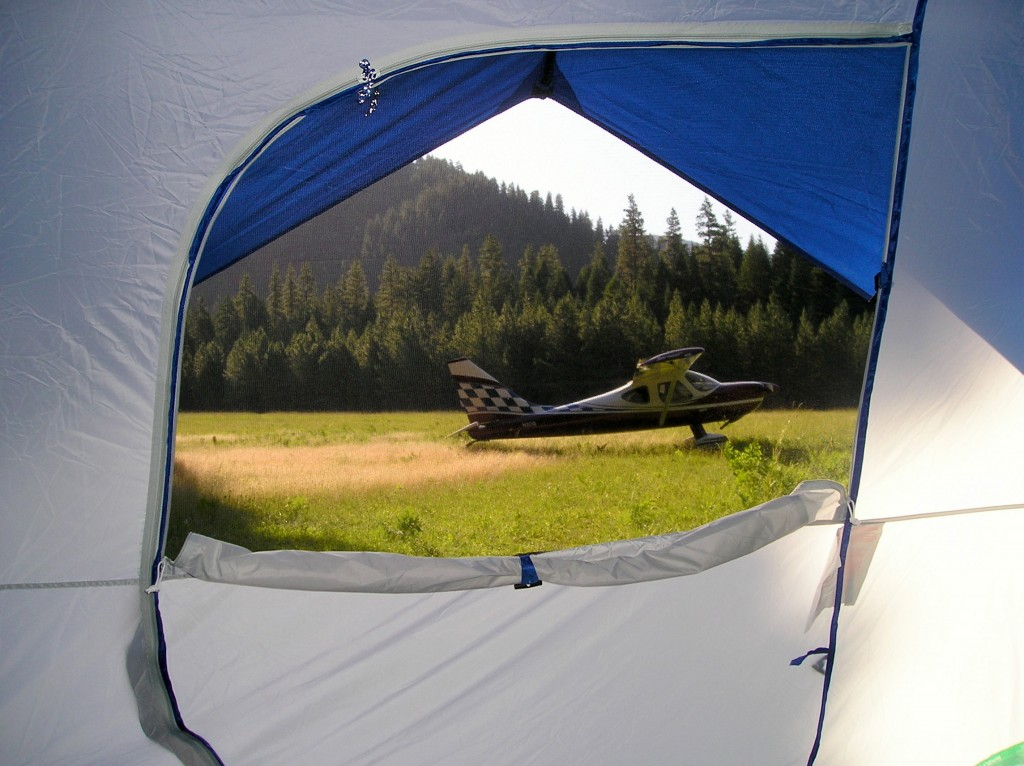 Camping at Moose Creek, ID with N2CQ June, 2007 Photo by Alan Negriin