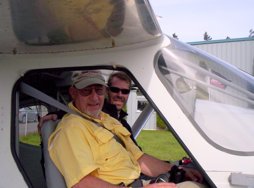 Joe Brown and Alan Negrin - First Flight of N454JP